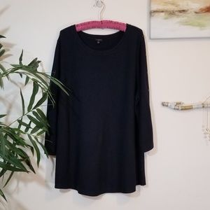 TALBOTS navy blue knit sweater top size 2X